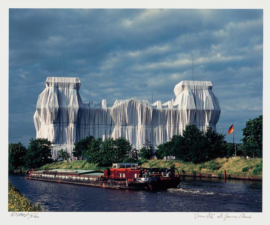 Christo | Reichstag, Portfolio II, Nordfassade mit Spree (handsigniert)