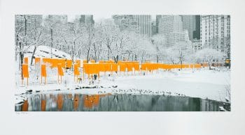 Christo | The Gates, Skyline in the snow (handsigniert)