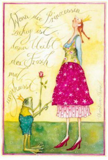 "Christina Thrän: Briefkarte ""Wenn die Prinzessin..."""