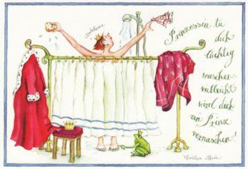 """Christina Thrän, Briefkarte """"Prinzessin"""""""