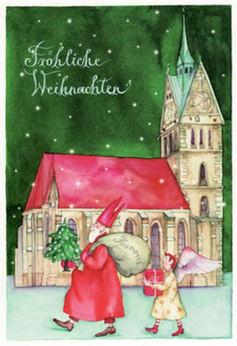 """Christina Thrän: Weihnachtskarte """"Weihnachtskirche"""""""