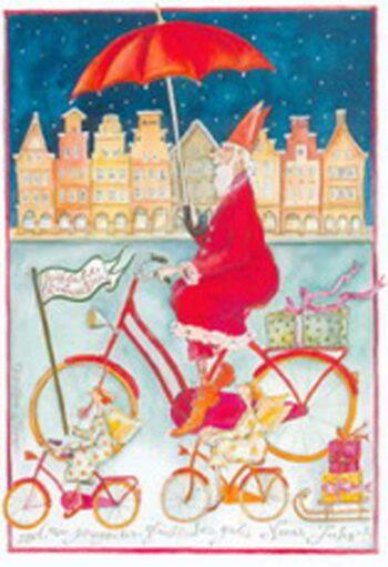 """Christina Thrän: Weihnachtskarte """"Weihnachtsschirm"""""""