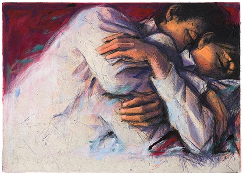 Peter Wever | Umarmung weißer Winkel (rot)