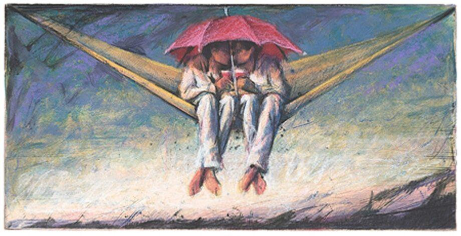 Peter Wever | Kleine Hängematte und Schirm
