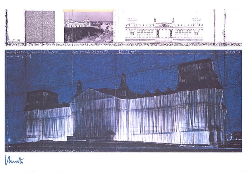 Christo Verhüllter Reichstag VII, (handsigniert)