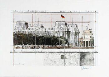 Christo Reichstag IX, (handsigniert)