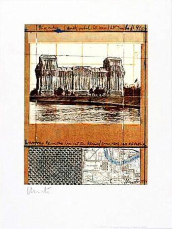 Christo Verhüllter Reichstag XII, (handsigniert)