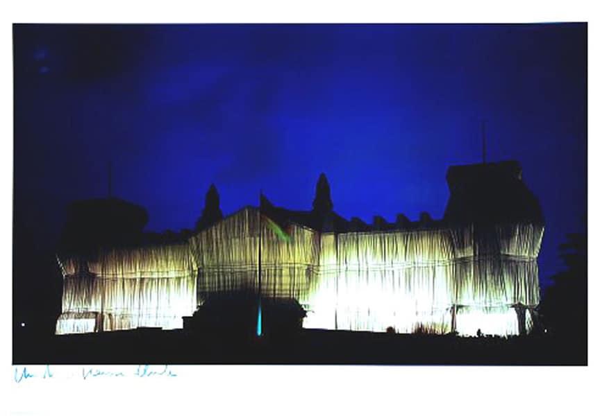 Christo | Reichstag, Westfassade um Mitternacht (handsigniert)