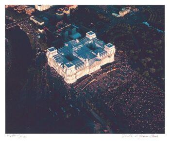 Christo: Reichstag, Portfolio II, Platz der Republik (handsigniert)