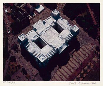 Christo: Reichstag, Portfolio II, Luftbild des Daches (handsigniert)