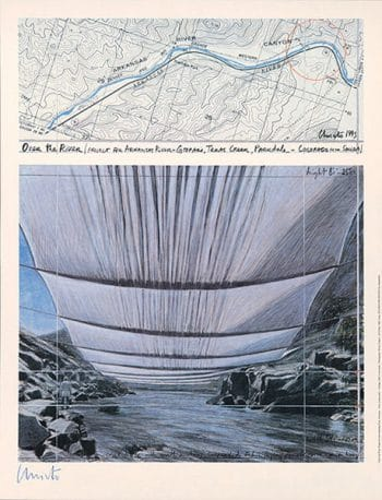 Christo | Over The River II (handsigniert)