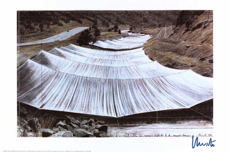 Christo | Over The River III (handsigniert)