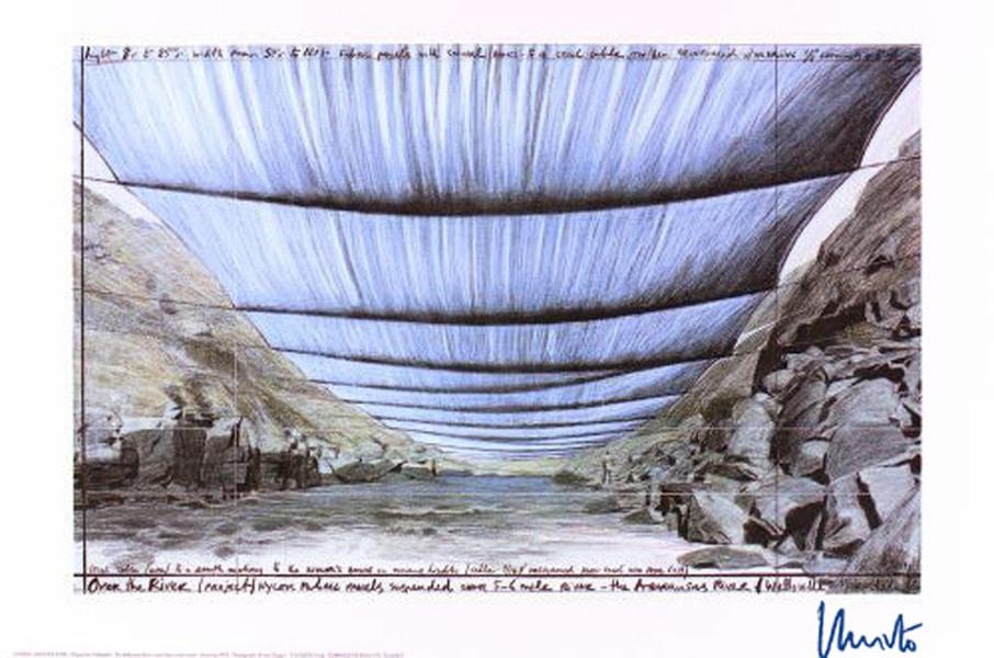 Christo   Over The River IV (handsigniert)