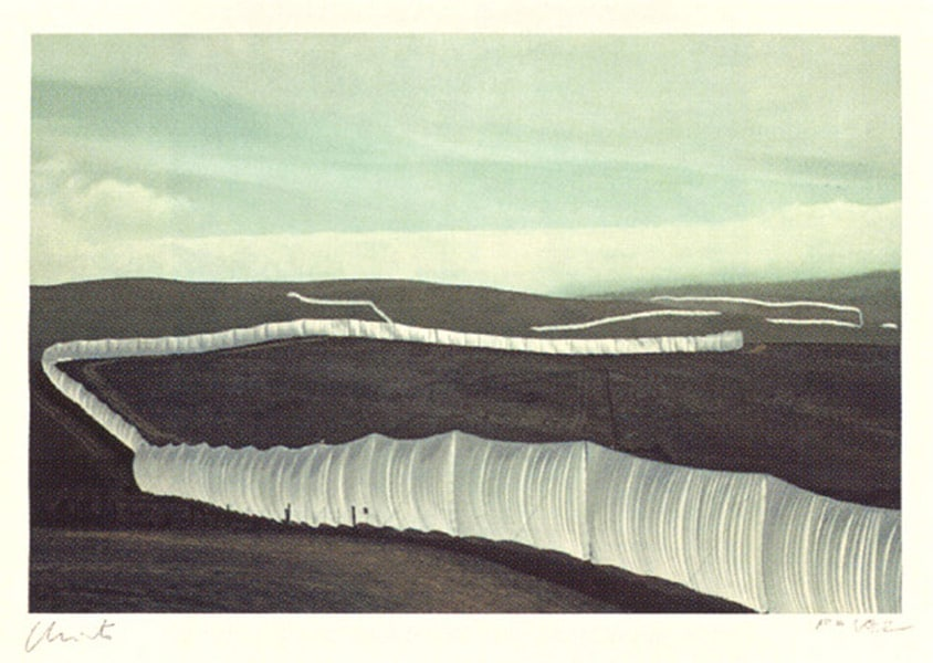 Christo | The Running Fence (1976) (handsigniert)