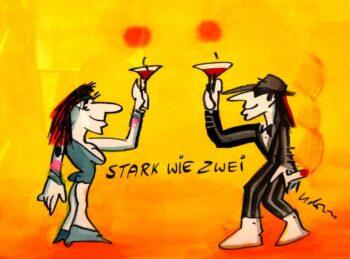Udo Lindenberg | Stark wie zwei, Originalaquarell, handsigniert