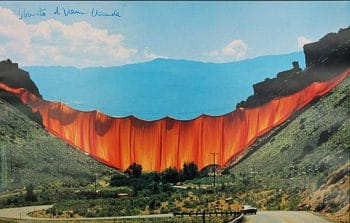 Christo Valley Curtain, handsigniert