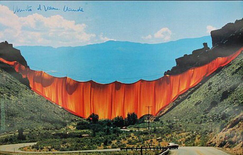 Christo Valley Curtain, handsigniert