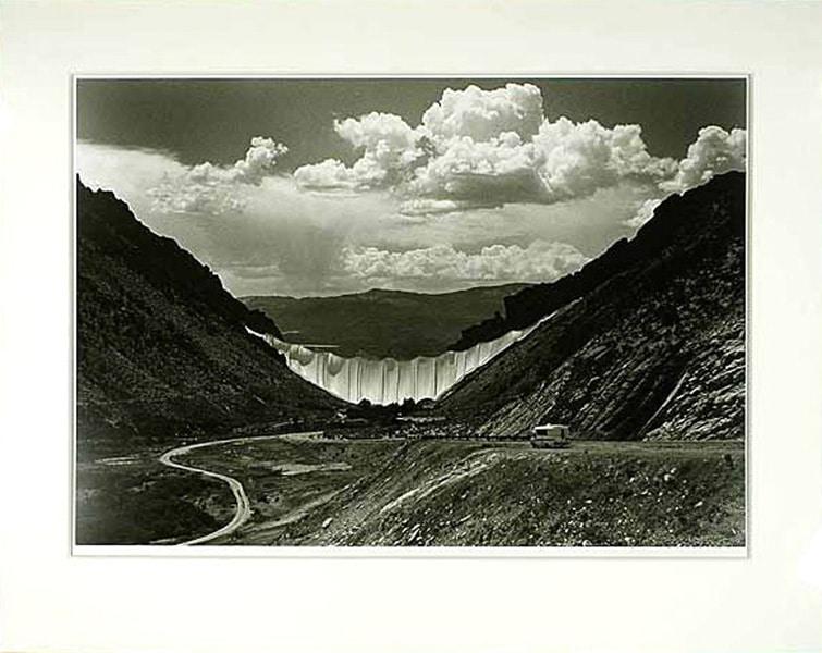 Christo | Valley Curtain s/w, handsigniert