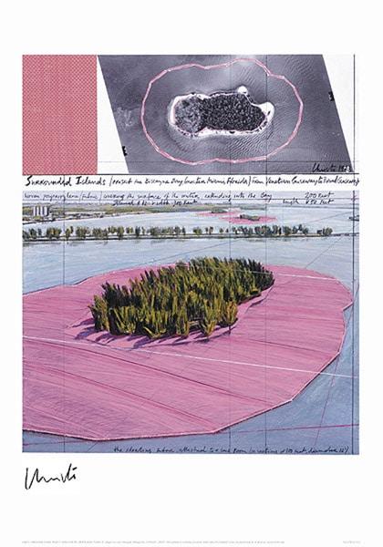 Christo   Surrounded Islands, Miami III, handsigniert