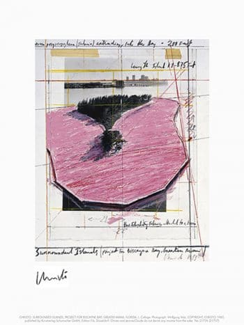 Christo and Jeanne-Claude | Surrounded Islands, Miami I , handsigniert