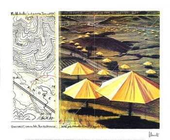 Christo | Umbrellas Yellow II, handsigniert