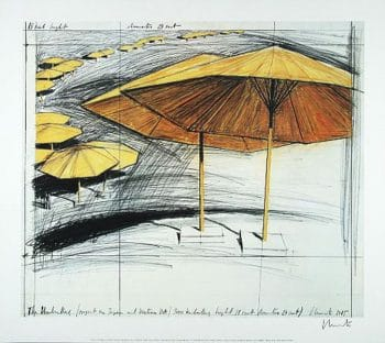Christo | Umbrellas Yellow III, handsigniert