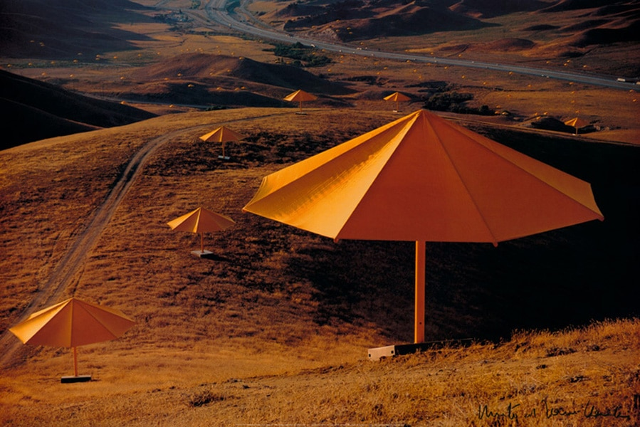Christo | Umbrellas Yellow, handsigniert