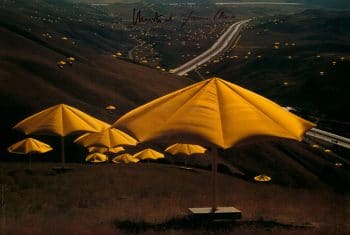 Christo | Umbrellas Yellow No. 10, handsigniert