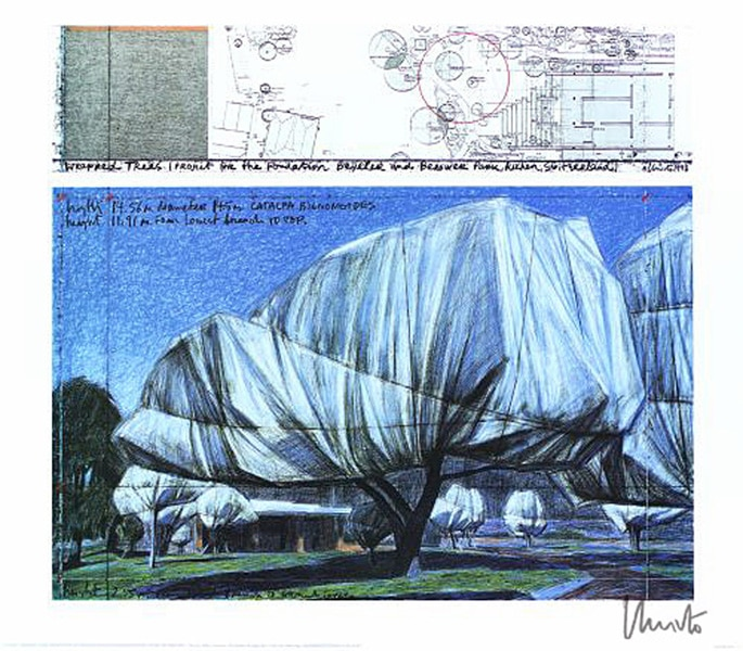 Christo | Wrapped Trees No. I, handsigniert