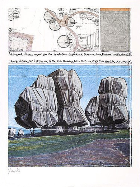 Christo   Wrapped Trees No. II, handsigniert