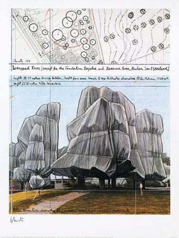 Christo | Wrapped Trees No. III, handsigniert