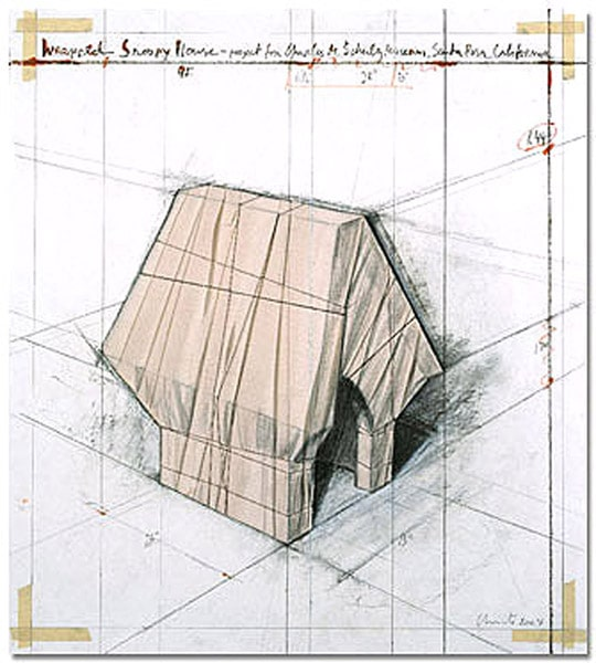 Christo Wrapped Snoopy House, handsigniert