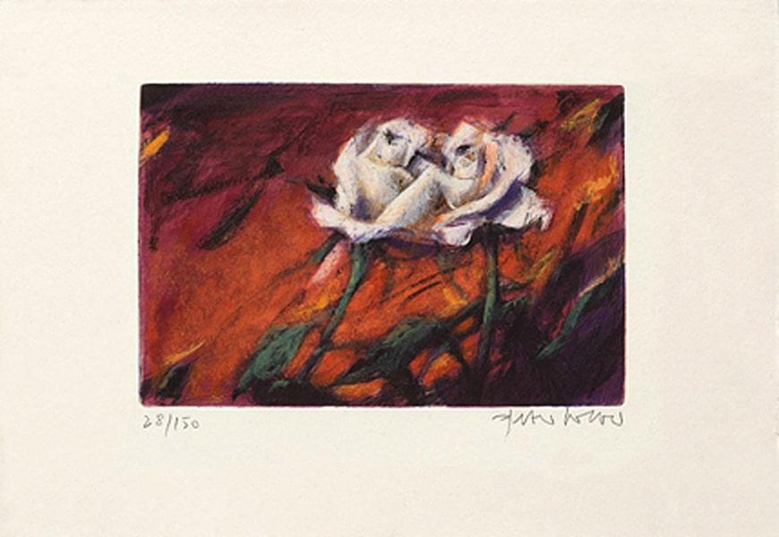Peter Wever | Zwei Rosen (rot)