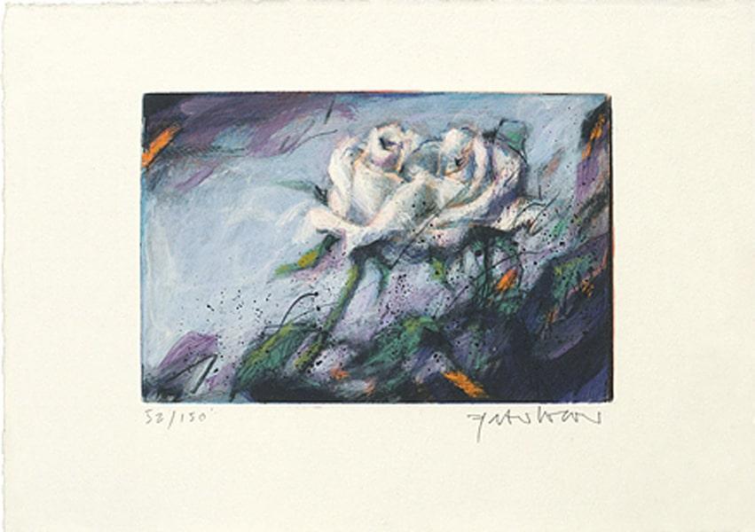 Peter Wever   Zwei Rosen (weiß)