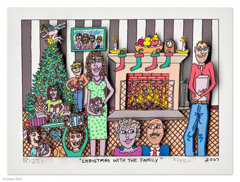 James Rizzi Christmas with the family