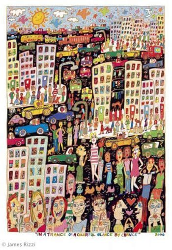 James Rizzi, In a trance of a colorful glance by chance