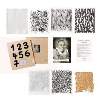 "Günther Uecker, Grafikmappe ""Kalender"""