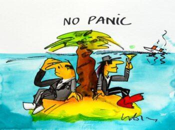 Udo Lindenberg | No panic (Insel). Originalaquarell, handsigniert