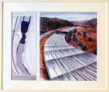 Christo | Over the river, gerahmt