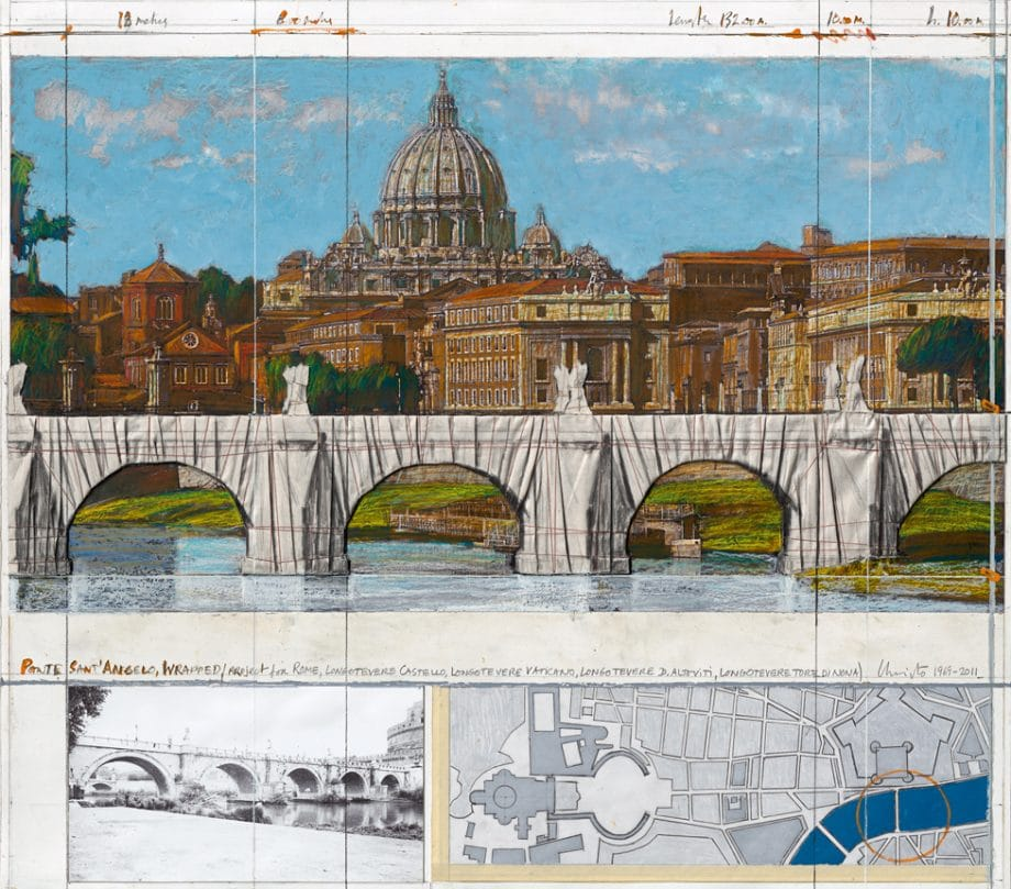 Christo Ponte Sant' Angelo, Wrapped