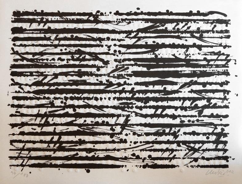 Günther Uecker, Optische Partitur Mozart
