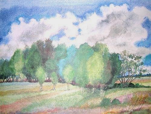 Günter Grass Landschaft mit Birken