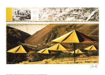 Christo | Umbrellas Yellow I, gerahmt