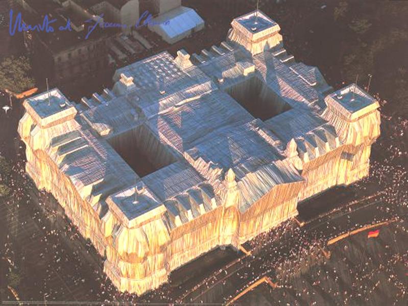 Christo | Reichstag, West- und Nordfassade, (handsigniert), gerahmt