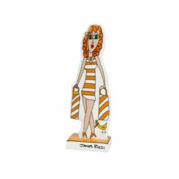 James Rizzi | Porzellanfigur Shopping Girl
