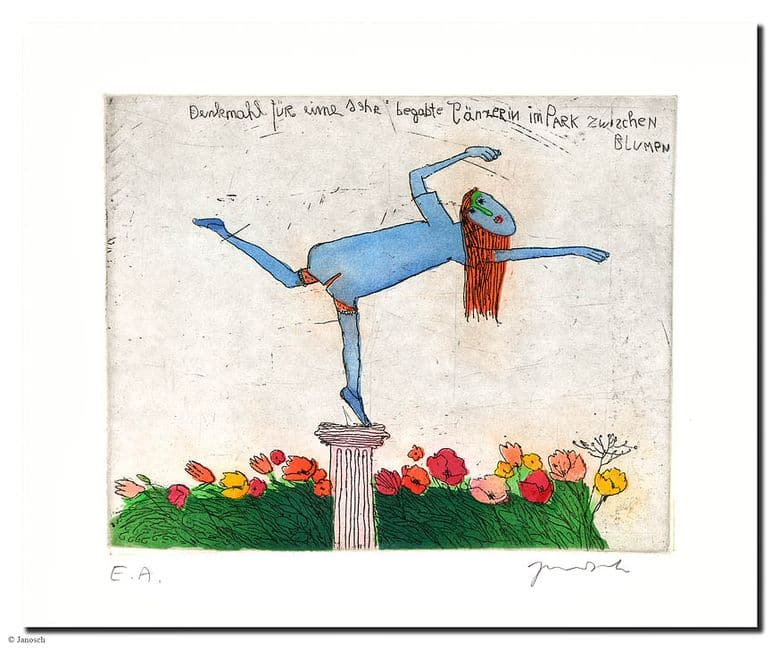 Janosch | Denkmal für sehr begabte Tänzerin(rot)