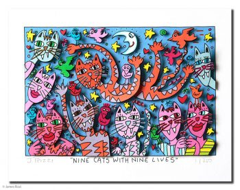 James Rizzi | Nine Cats with Nine Lives