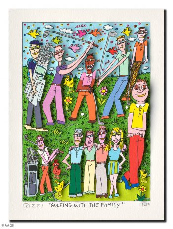 James Rizzi | Golfing with the Family