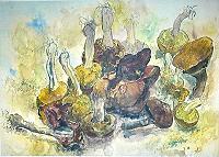 Günter Grass Stilleben mit Pilzen