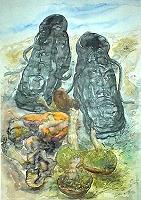 Günter Grass Pilze und Schuhe